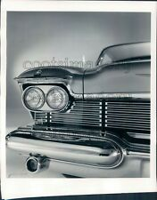1957 Front End Grill Headlight Vintage 1958 Chrysler Imperial Auto Press Photo