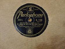 Disque 78 tours PARLOPHONE LOUIS ARMSTRONG R. 1100