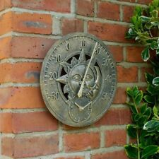 Clock Sun And Moon Wall Clock Thermometer Garden Outside In Designs