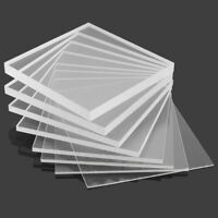 Clear Acrylic Sheet Perspex Plexi glass Plastic Panels counter screens 5MM A4