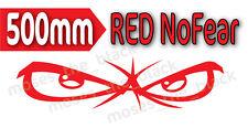 No Fear Eyes Decal, 50X13.5cm, RED H.Q. Vinyl* 4x4, ute, truck, boat, motorbike