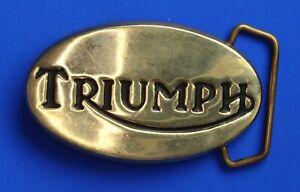 Triumph oval brass Belt Buckle for 1½ inch belt [22511]