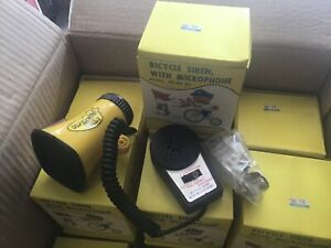 Vintage Bicycle Horn Siren with Speaker and Microphone, New old stock police bmx