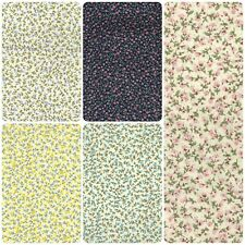 100% Cotton Poplin Printed Floral Tiny Pattern Fabric Dress Quilting Material