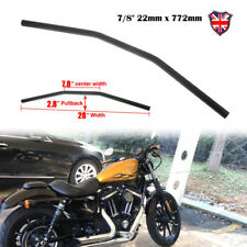 "Motorcycle Drag Bars Steel Handlebars 7/8"" 22mm x 772mm For Honda Suzuki Yamaha"