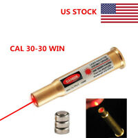 USA CAL 30-30 WIN Brass Red Laser Bullet Shaped Cartridge Bore Sighter Boresight