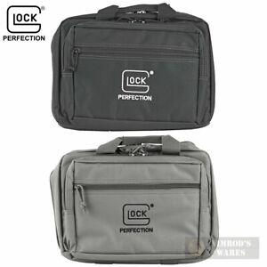 TWO GLOCK Double Pistol RANGE BAGS Dual-Compartment BLACK + GRAY AP60242 AP60301