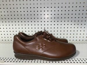 SAS Free Time Womens Leather Tripad Comfort Casual Walking Shoes Size 12 S Brown