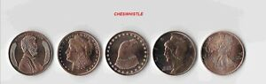 Patriot US History American Eagle Troy Copper AVDP Ounce 5 Coin Full Set - New