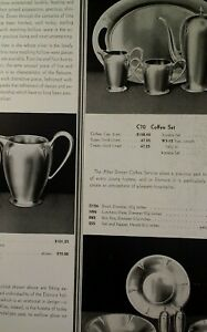 Sterling Silver Coffee Set 1931 Catalog Page Krower New Orleans Rare Elsinore