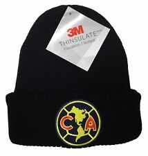 CLUB AGUILAS DEL AMERICA SOCCER BEANIE 3M HAT COLOR BLACK