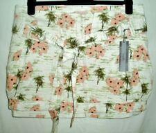 Gonne e minigonne da donna floreali corto , mini cotone