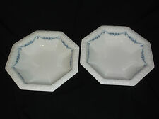 2 Rosenthal Classic Rose 8 Side Serving Vegetable Bowl Blue Rose Draping 10 1/2""