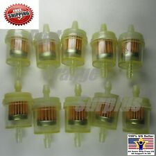 10x Universal Inline Petrol/Gas/Fuel Filter 6MM-8MM 1/4''Lawn Mower Small Engine