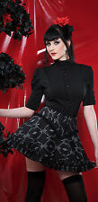 Lip Service Gothic Lolita Steampunk Victorian Black/White Bow Mini Skirt XS