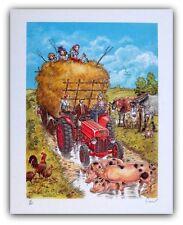 Affiche CARIN   Foire agricole d'Eghezee 100ex signé 40x50