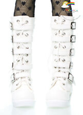 Doll Shoes Emo Buckles Lace-Up Boots White For 1/3 Scale SD Girl BJD Dollfie