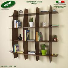 Libreria ARCO  in legno noce mensola scaffale a muro parete per ufficio studio