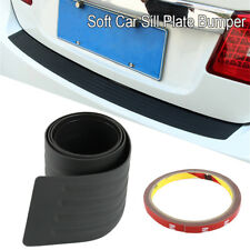 Rear Bumper Guard Protector Trim Cover Sill Plate Trunk Rubber Pad Kit Black