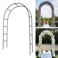 7.5ft Steel Garden Arch Trellis Arbor Climbing Plant Flower Wedding Frame Decors