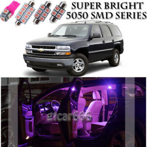 For Chevy Tahoe 2000-2006 Pink LED Interior Light Kit + License Plate Light 17Pc