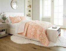 """Threshold Coral Floral Quilt & 2 Shams - Full/queen - 3 piece set - 88""""x92"""""""