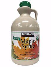 Kirkland Signature Organic Maple Syrup 100% Pure Grade A Amber Rich Taste 1L