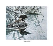 Morning Mist Loon Signed Print Cottage Cabin Lodge Chalet Art  Bird Lover Gift