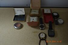 LOT OF POCKET WATCHES AND MOVEMENTS/variety parts for project