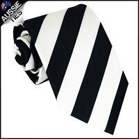 MENS BLACK & WHITE STRIPE SPORT TIE stripes striped necktie