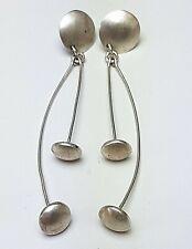 Lange 925 Sterling Silber Ohrhänger spaciges Design - 80er Jahre A 846
