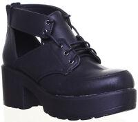 Fly London Webe244 7 Eye Lace Up Block Heel Side In Black Size UK 3-8