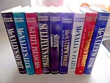 Lawrence Sanders Books, Lot of 9 Hardcover Books