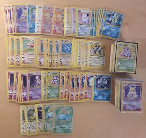 ALT Original Vintage Pokemon 10 LOT 1. Auflage Edition + Holo! + Selten Sammlung