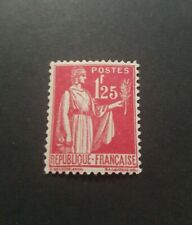 TIMBRE FRANCE TYPE PAIX N°370 NEUF * MH 1937 TB CENTRAGE COTE 2,00€