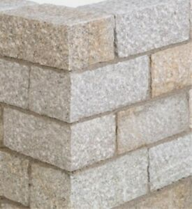 Mauersteine, Granit gelb - gespalten -Größe wählbar- Mauerblöcke, Trocken-Mauer