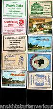 E11.277 Schleswig, Werbeetiketten, Gasthausetiketten