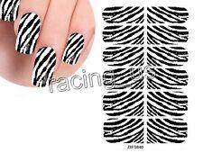 2PCS Zebra pattern Nail Art Design Wraps Foil Decal Decorations #ZXFS840