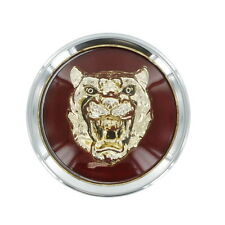 Jaguar Dark RED Badge GOLD Growler Center Cap  MNA6249CB 95-97 XJ6