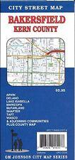 City Street Map of Bakersfield & Kern County, California, by GMJ Maps