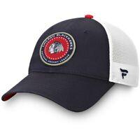 Chicago Blackhawks Fanatics Branded Authentic Pro Americana Trucker Adjustable
