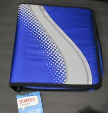 "2"" Zippered Binder Trapper Keeper Notebook 3 Round Ring w/ Pockets Junk Journal"