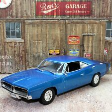 Maisto 1 18 Special Edition 1969 Dodge Charger Blue.