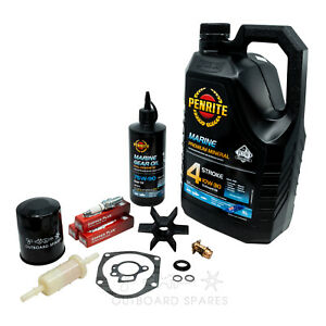 Mercury Mariner Annual Service Kit with Oils for 50, 60hp 4 Stroke EFI Outboard