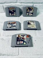 Nintendo 64 N64 (5) Game Lot, Cleaned And Tested Authentic Cartridges Only