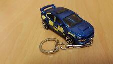 Diecast Subaru Impreza Wrx STi Police Toy Car Keyring Keychain