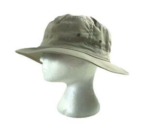 VTG C.C. Filson Tin Cloth Packers Hungting Fishing Khaki Bucket Mens Hat Size XL