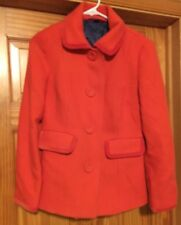 Boden Textured Wool Orange  Long Sleeved Button Front Blazer /Jacket US 10