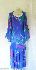 CATTIVA Size 26 28 Ladies Designer Blue & Purple Wedding Dress and Jacket Outfit