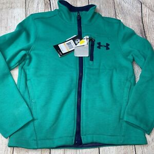 Under Armour Youth Small (7) Green Storm Coldgear Zip Up Jacket NEW